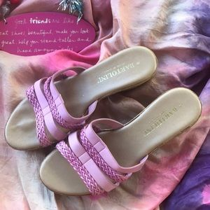 Shoes - 🇮🇹 Bartolini pink braided sandal made in Italy